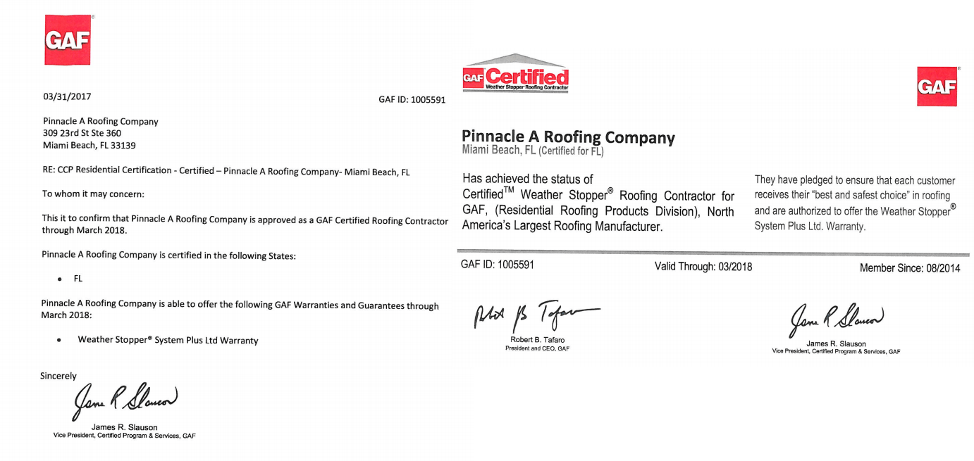 Certifications pinnacle a roofing company x xflitez Images